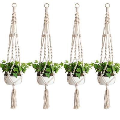 Set of 4 Macrame Plant Hangers Plant Pot Holders Plant Containers