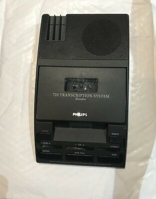 Philips LFH710 LFH 72 720 Transcription System Main Unit Only Cassette Dictation