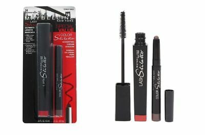 MAYBELLINE Lash Stiletto Mascara Brownish black + Starlet Sable eyeshadow liner