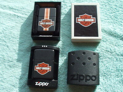 Pair of Harley Davidson Motorcycle Zippo Cigarette Lighters   New in the Box