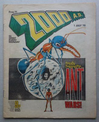 2000AD comic #71 - 1 Jul 1978 BANNED ISSUE VG+ (phil-comics)