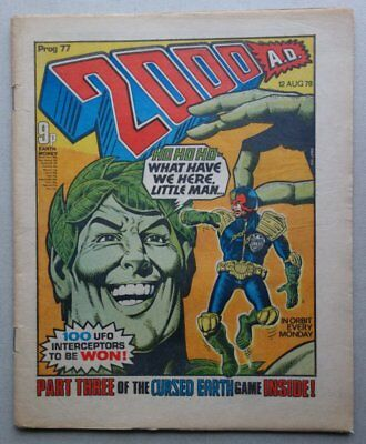 2000AD comic #77 - 12 Aug 1978 BANNED ISSUE VG (phil-comics)