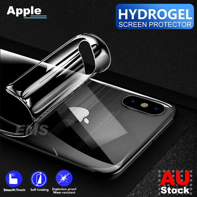 Back Rear Hydrogel Screen Protector Film For Apple iPhone 7 8 Plus X XS Max