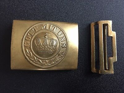Pre-1871 Franco-Prussian War-WW1  Collectible Prussian Enlisted Man Brass Buckle