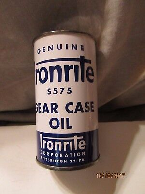 Sealed  ironrite Gear Case Oil 4 Fl oz Tin Can by Ironrite Corp Pittsburgh