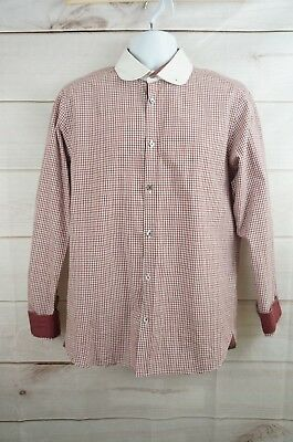 27e7eda5c Ted Baker Size 4 Large Mens Red Plaid Long Sleeve Dress Shirt L XL Career  Casual
