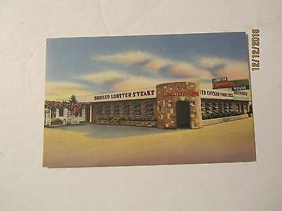 The Lobster House at Perrine, Fla Linen Postcard Nationwide