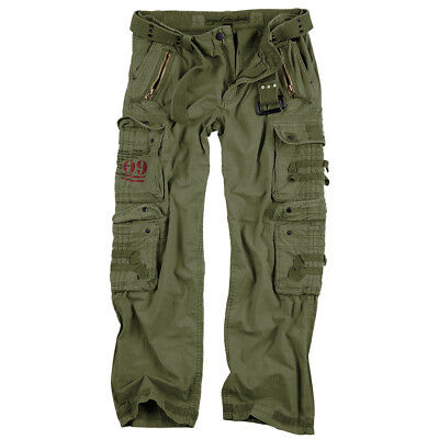 Surplus Royal Outback Zip Off Trousers Army Mens Cargo Combat Pants Royal White