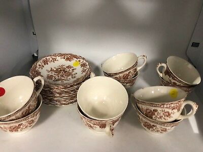 Tea Cups   with Saucer ! Bristol Crown Ducal 762005