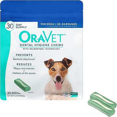 Merial Oravet Dental Hygiene Chew Dental Treats For Dogs Reduce Plaque NEW