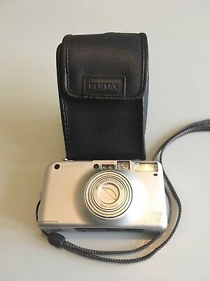 Pentax Espio 120 SW 28-120mm Zoom Lens Compact Lomo Camera 35mm With Case Vtg
