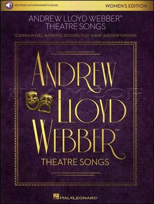 Andrew Lloyd Webber Theatre Songs Womens Edition Vocal Sheet Music Book/Audio