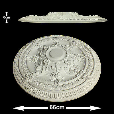 66cm Diameter, Lightweight Ceiling Rose (made of strong resin not polystyrene)
