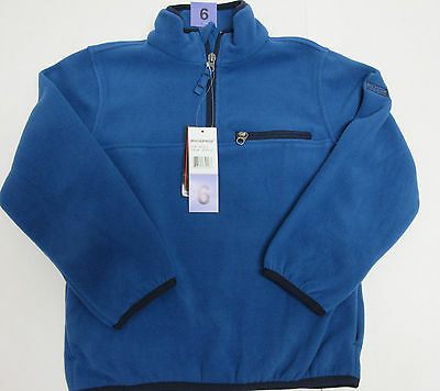 Boys Jacket 6 Blue Pullover Fleece Zipper Weatherproof Heat 32 Degrees