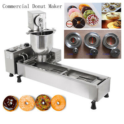 Commercial Automatic Donut Fryer Maker Making Machine 3 Changing Mold Cookware