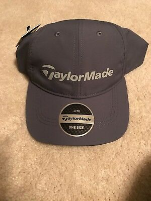 Taylormade Golf Performance Lite Hat Cap Gray Relaxed Adjustable Osfa New!  19333 b211ef92ef51