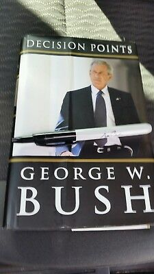 President George W. Bush Signed Book Decision Points. Included  Sharpie Pen !
