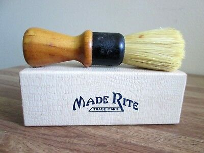 Vintage Ever-Ready Shaving Brush > Wooden Handle > Set In Rubber > U.s.a.> Box
