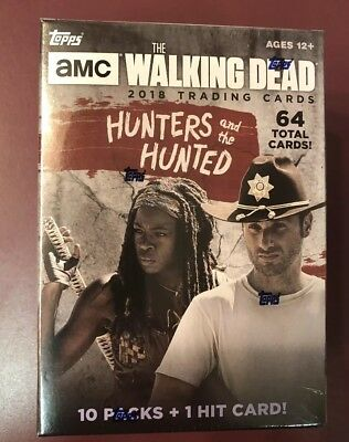 2018 Topps The Walking Dead Hunters & Hunted FACTORY SEALED Blaster Box QTY FS
