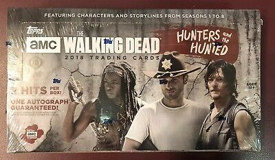 2018 Topps The Walking Dead Hunters & Hunted Factory Sealed HOBBY BOX - QTY FS