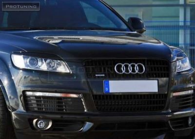 Headlight Eyebrows For Audi Q7 4T Front Eye Lids Masks Covers