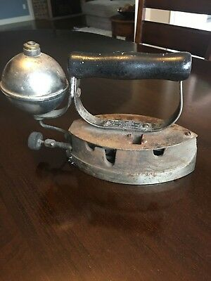 Antique Diamond Gas Iron by the Akron Lamp Co