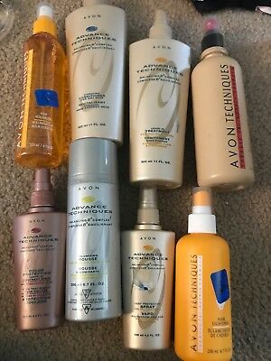 Mixed Lot Of 8 Avon Advance Techniques Hair Care Items