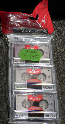 3x Microcassette 3MC-60 SONY max.120 minutes