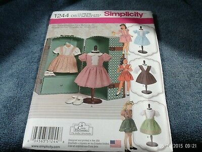 """18. Simplicity 2761--18"""" Doll Clothes (For All American Dolls)~~New"""