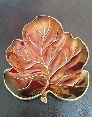 Carlton Ware Rouge Royale 40s Leaf Dish/Pin Tray 2367