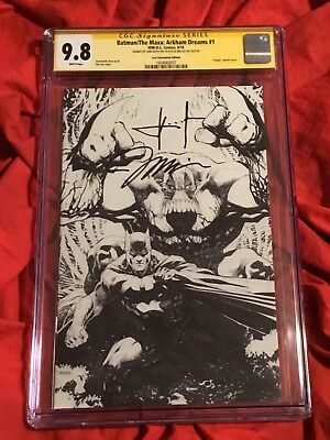 Cgc Ss 9.8~Batman Maxx #1~Nycc Virgin Sketch Variant~Signed Sam Kieth+Jim Lee