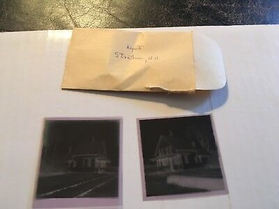 Vintage Film Negative Boston & Maine Railroad station depot Stratham NH