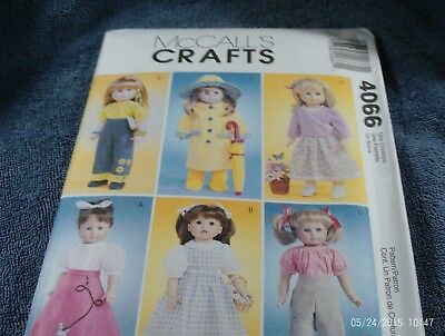"""41. McCALLS 4066~~18"""" DOLL CLOTHES~~(ALL AMERICAN DOLLS)--USED"""