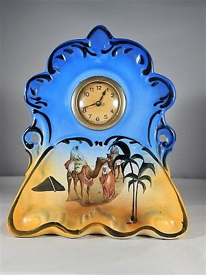 Vintage Ornate Ceramic Mantel Clock Made in France