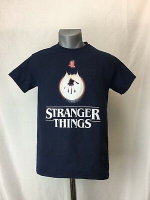 Universal Studios STRANGER THINGS Hand Print Lightbulb Adult Small Unisex Tshirt