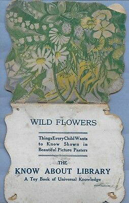 Vintage 1918 Know About Library Wild Flowers Stamps In Book E P Dutton & Co Ny