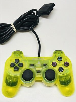 SONY PlayStation 2 PS2 Official Controller DualShock 2 Lemon Yellow SCPH-10010