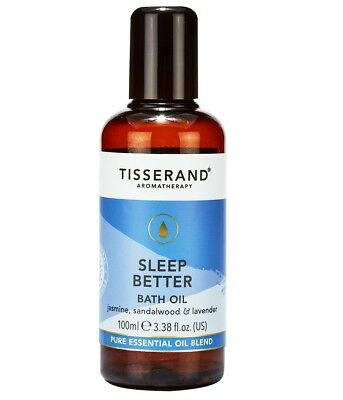 Tisserand SLEEP BETTER Aromatherapy BATH OIL Lavender/Sandalwood/Jasmine 100ml
