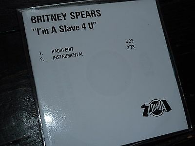 BRITNEY SPEARS I'm A Slave 4 U UK Promo CD Official Zomba PROMOTIONAL For You