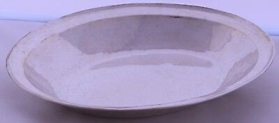 Large 18th Century Spanish Colonial solid Silver Deep Dish bowl antique handmade