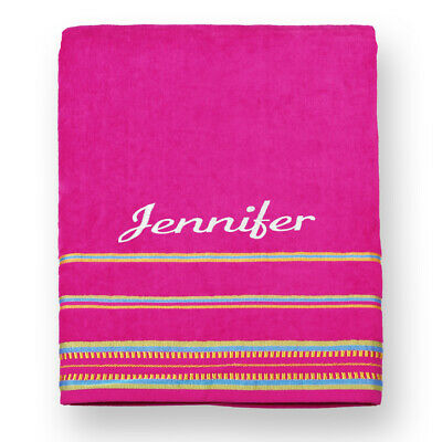 Kaufman - Velour Oversized Beach and Pool Towel *FREE EMBROIDERED NAME* (40x70)