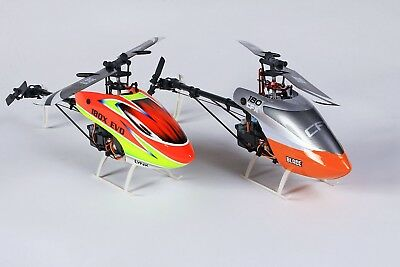 (2) 108CFX BNF Helicopters with (1) Aluminum Carry Case