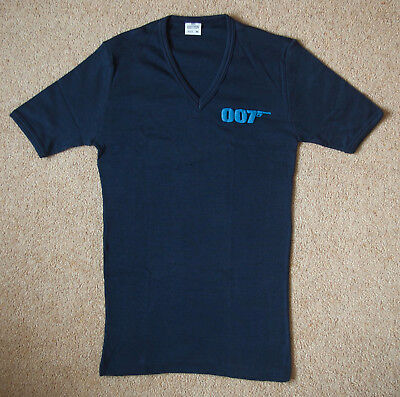 015 For Your Eyes Only James Bond 007 RARE Promotional T-Shirt Navy Blue
