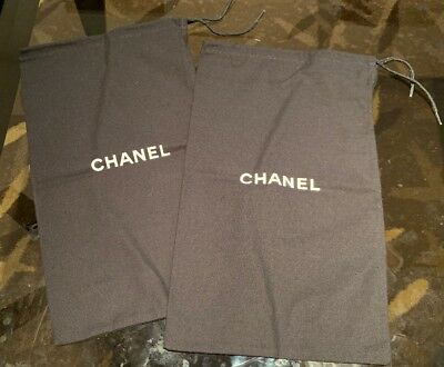 "Pair Of Chanel Dust Bags - 7.5"" X 12.5"""