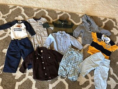 Gap Gymboree Baby Boys 12-18 Months Clothing Lot Hoodie Shirts Childrens Place T