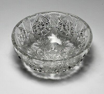 Cut Crystal Bowl - Deep and sharp cuts, featuring 6 radiating stars