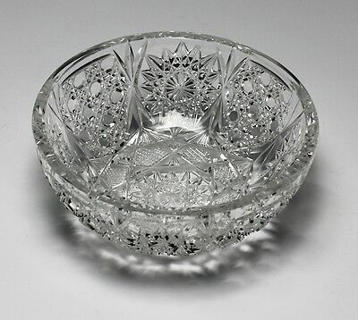 Cut Crystal Bowl - Deep and sharp cuts, featuring 16 pointed brunswick stars