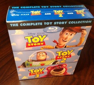 The Complete Toy Story Collection (Blu-ray,REGION FREE, 4-Disc Set)NEW-Free S&H