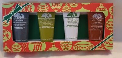 New Origins Mini Mask Set Of 4 15Ml Each =60Ml New In Packaging (Me-1)