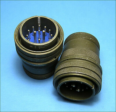 Qty(2) Amphenol 97-3106-A-24-24P 16 Pin MS Round Connector